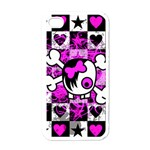 Emo Scene Girl Skull Apple iPhone 4 Case (White)