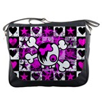 Emo Scene Girl Skull Messenger Bag