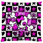 Emo Scene Girl Skull Large Cushion Case (Two Sides)