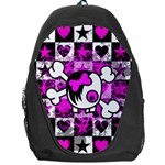 Emo Scene Girl Skull Backpack Bag