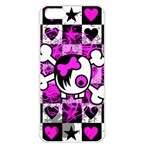 Emo Scene Girl Skull Apple iPhone 5 Seamless Case (White)