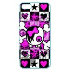 Emo Scene Girl Skull Apple Seamless iPhone 5 Case (Color)