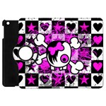 Emo Scene Girl Skull Apple iPad Mini Flip 360 Case