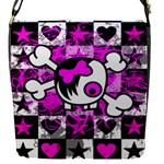 Emo Scene Girl Skull Removable Flap Cover (Small)