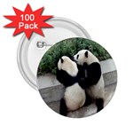 Let Me Kiss You Pandas In Love 2.25  Button (100 pack)