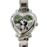 Let Me Kiss You Pandas In Love Heart Italian Charm Watch