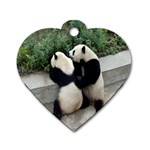 Let Me Kiss You Pandas In Love Dog Tag Heart (One Side)