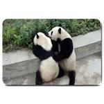 Let Me Kiss You Pandas In Love Large Doormat