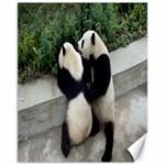 Let Me Kiss You Pandas In Love Canvas 11  x 14