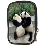 Let Me Kiss You Pandas In Love Compact Camera Leather Case