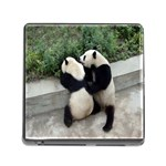 Let Me Kiss You Pandas In Love Memory Card Reader with Storage (Square)