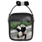 Let Me Kiss You Pandas In Love Girls Sling Bag