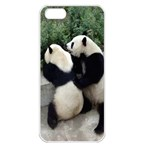 Let Me Kiss You Pandas In Love Apple iPhone 5 Seamless Case (White)