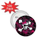 Girly Skull & Crossbones 1.75  Button (100 pack)