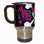 Girly Skull & Crossbones Travel Mug (White)