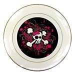 Girly Skull & Crossbones Porcelain Plate