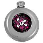 Girly Skull & Crossbones Hip Flask (5 oz)