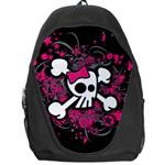 Girly Skull & Crossbones Backpack Bag