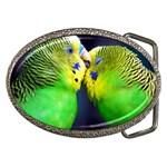 Kiss And Love Lovebird Belt Buckle
