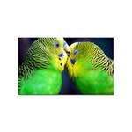 Kiss And Love Lovebird Sticker (Rectangular)
