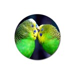 Kiss And Love Lovebird Magnet 3  (Round)