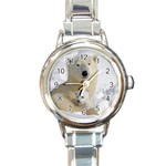 In Moms Arm Mothers Love Round Italian Charm Watch
