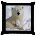In Moms Arm Mothers Love Throw Pillow Case (Black)