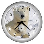 In Moms Arm Mothers Love Wall Clock (Silver)