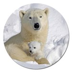 In Moms Arm Mothers Love Magnet 5  (Round)