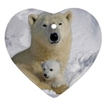 In Moms Arm Mothers Love Heart Ornament (Two Sides)