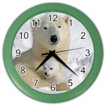 In Moms Arm Mothers Love Color Wall Clock