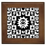 Gothic Punk Skull Framed Tile