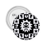 Gothic Punk Skull 2.25  Button