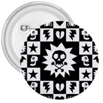Gothic Punk Skull 3  Button