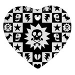 Gothic Punk Skull Ornament (Heart)