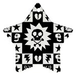 Gothic Punk Skull Ornament (Star)