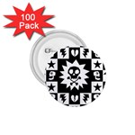 Gothic Punk Skull 1.75  Button (100 pack)
