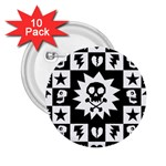 Gothic Punk Skull 2.25  Button (10 pack)
