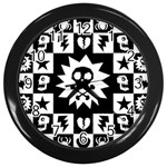 Gothic Punk Skull Wall Clock (Black)
