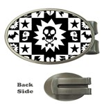 Gothic Punk Skull Money Clip (Oval)
