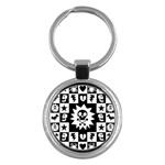 Gothic Punk Skull Key Chain (Round)