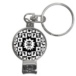 Gothic Punk Skull Nail Clippers Key Chain