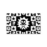 Gothic Punk Skull Sticker (Rectangular)