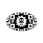 Gothic Punk Skull Sticker Oval (10 pack)