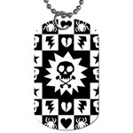 Gothic Punk Skull Dog Tag (Two Sides)