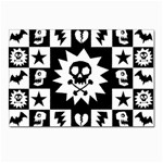 Gothic Punk Skull Postcards 5  x 7  (Pkg of 10)