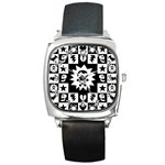 Gothic Punk Skull Square Metal Watch