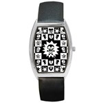 Gothic Punk Skull Barrel Style Metal Watch