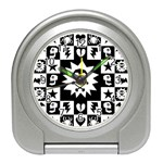 Gothic Punk Skull Travel Alarm Clock