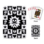 Gothic Punk Skull Playing Cards Single Design